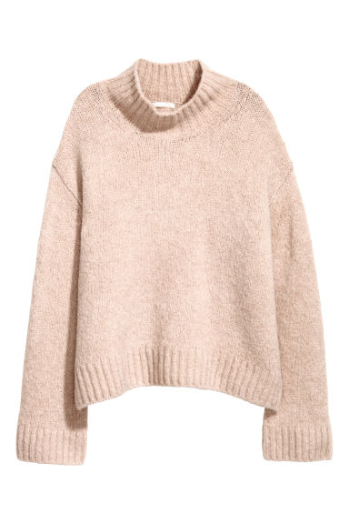 Knitted wool-blend jumper - Powder pink - Ladies | H&M CN