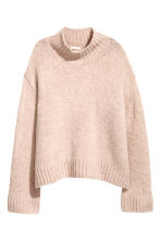Knitted wool-blend jumper - Powder pink - Ladies | H&M IE 2