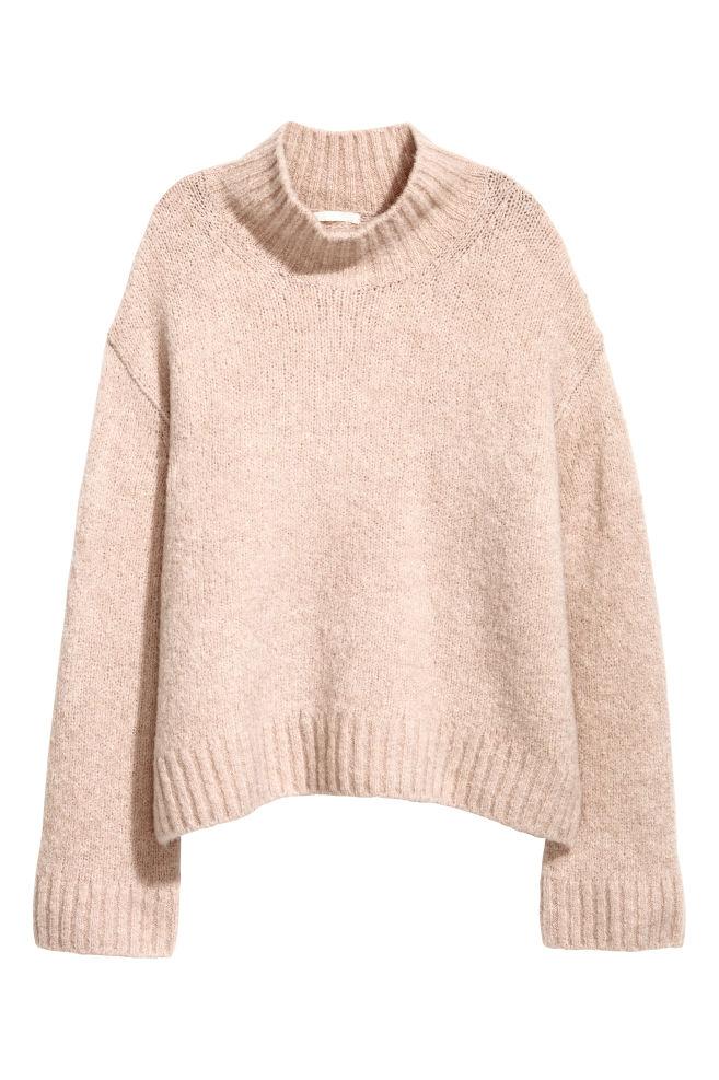Pull en laine mélangée - Rose poudré - FEMME   H&M FR 2