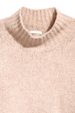 Knitted wool-blend jumper - Powder pink - Ladies | H&M IE 3