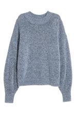 Knitted mohair-blend jumper - Blue marl - Ladies | H&M CA 2