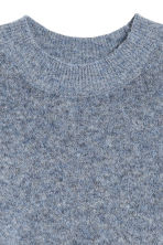 Knitted mohair-blend jumper - Blue marl - Ladies | H&M CA 3