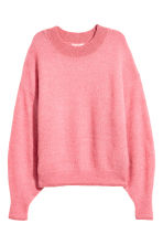 Knitted mohair-blend jumper - Pink marl - Ladies | H&M CN 2