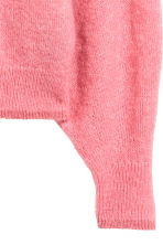 Knitted mohair-blend jumper - Pink marl - Ladies | H&M CN 3