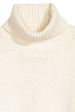 Knitted polo-neck jumper - White - Ladies | H&M CN 3