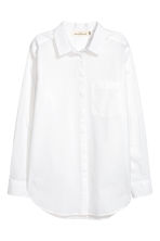 Cotton shirt - White - Ladies | H&M 2