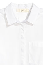 Cotton shirt - White - Ladies | H&M 3