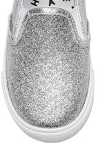 Glittery slip-on trainers - Silver -  | H&M 4