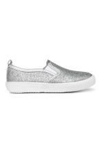Glittery slip-on trainers - Silver -  | H&M 2