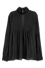 Blouse with lace details - Black - Ladies | H&M CN 2