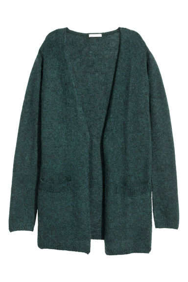 Cardigan in misto mohair - Verde scuro mélange -  | H&M IT