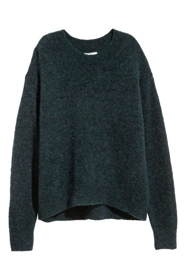 Loose-knit jumper - Dark green - Ladies | H&M IE