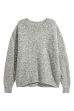 Loose-knit jumper - Grey marl - Ladies | H&M 2