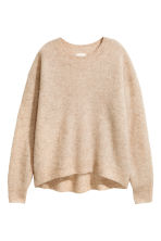 Loose-knit jumper - Camel - Ladies | H&M IE 2