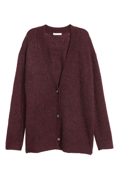 Mohair-blend cardigan - Burgundy - Ladies | H&M IE