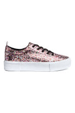 Plateausneakers - Roze/pailletten - DAMES | H&M BE 2
