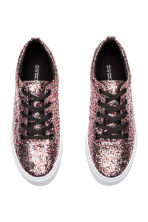 Plateausneakers - Roze/pailletten - DAMES | H&M BE 3
