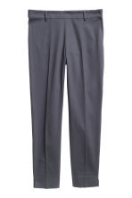 Tailored trousers - Dark grey-blue - Ladies | H&M CN 2