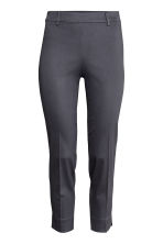 Tailored trousers - Dark grey-blue - Ladies | H&M CN 4