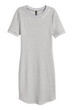 Ribbed Dress - Grey - Ladies | H&M CA 2