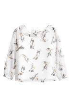 Blouse with a frilled collar - White/Rabbits - Kids | H&M 2