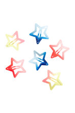 3-pack hair clips - Blue/Glittery -  | H&M CN 1