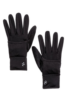 Running gloves with flap