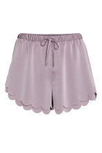 Scallop-hem shorts - Heather purple - Ladies | H&M IE 2