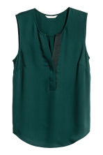 Sleeveless blouse - Dark green - Ladies | H&M CN 2
