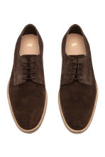 Suede Derby shoes - Dark brown - Men | H&M CN 2