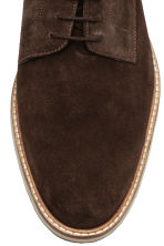 Suede Derby shoes - Dark brown - Men | H&M CN 3