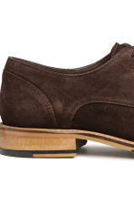 Suede Derby shoes - Dark brown - Men | H&M CN 4