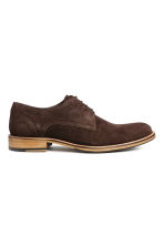 Suede Derby shoes - Dark brown - Men | H&M CN 1
