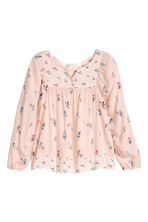 Patterned blouse - Powder pink - Kids | H&M CN 2