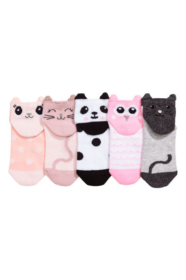 5-pack ankle socks - White - Kids | H&M