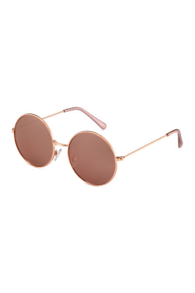 Round sunglasses - Rose gold -  | H&M 1