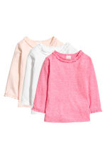 3-pack long-sleeved tops - Pink -  | H&M 1