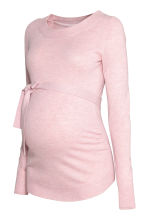 MAMA Fine-knit jumper - Light pink marl - Ladies | H&M GB 2