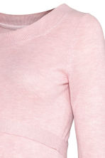 MAMA Fine-knit jumper - Light pink marl - Ladies | H&M GB 3