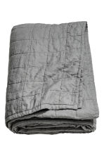 Washed linen bedspread - Grey - Home All | H&M CN 1