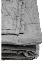 Washed linen bedspread - Grey - Home All | H&M CA 2