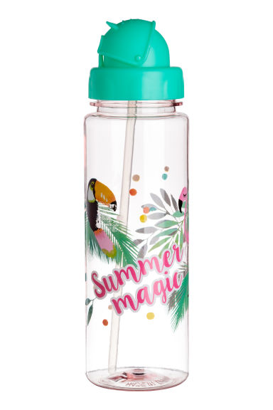 Water bottle - Mint green/Parrot -  | H&M 1