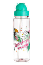 Water bottle - Mint green/Parrot - Kids | H&M CN 1