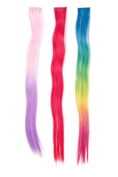 3-pack Hair extensions - Multicoloured - Kids | H&M 1
