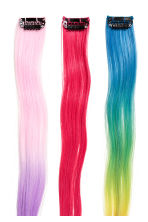3-pack Hair extensions - Multicoloured - Kids | H&M 2