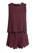 Playsuit - Plum - Ladies | H&M 2