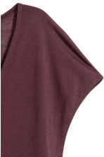 Lyocell V-neck top - Plum -  | H&M CN 3