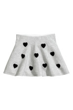 Grey marl/Hearts