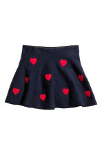 Skirt with hearts - Dark blue/Hearts - Kids | H&M CN 2