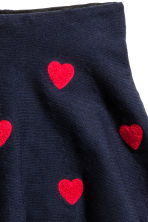 Skirt with hearts - Dark blue/Hearts - Kids | H&M CN 3